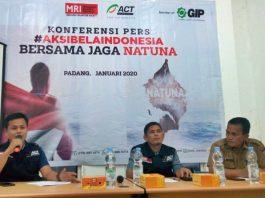 ACT Sumbar menggelar konferensi pers dalam aksi bela Indonesia jaga Natuna, Senin (13/01/2020).
