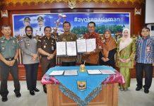 Pemerintah Kota Pariaman menandatangani MoU dengan Universitas Terbuka (UT) Kamis, (09/01/2020).