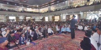 Ribuan masyarakat hadiri tabligh akbar Ustadz Abdul Somad di Islamic Center Padang Panjang, Jumat (03/01/2020).