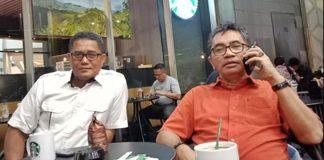 Ketua Fraksi Gerindra Mastilizal Aye dan Ketua DPRD Kota Padang Syafrial Kani