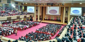 Universitas Terbuka (UT) Padang menggelar pelatihan kuliah online bagi ribuan mahasiswa dan sejumlah calon tutor di Auditorium UNP, Senin (02/03/2020).