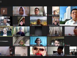 Dialog Internasional Pemuda Minangkabau melalui aplikasi zoom, Sabtu 27 Juni 2020.