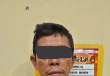 Pelaku Insial K Sedang Diamankan di Polres Pasaman Barat, Sumatera Barat, (Ist)